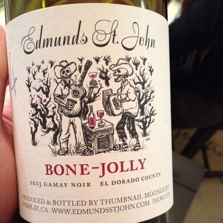Edmunds St. John Bone-Jolly El Dorado County Gamay Noir 2015
