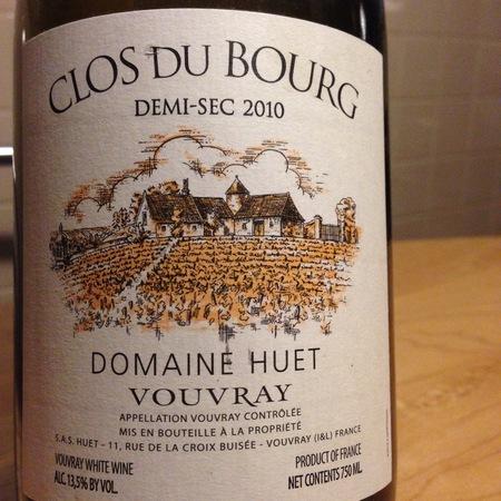 Domaine Huet Clos du Bourg Demi-Sec Vouvray Chenin Blanc 2015