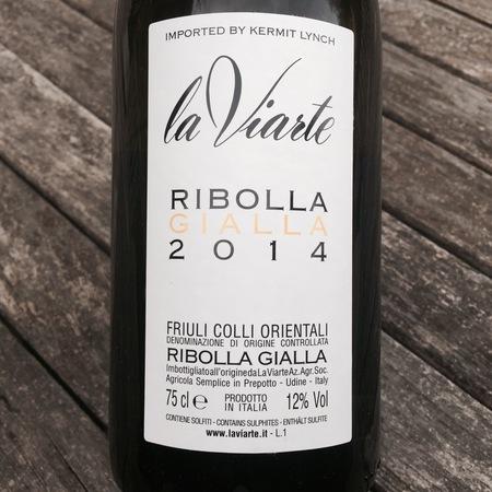 La Viarte Colli Orientali del Friuli Ribolla Gialla 2014
