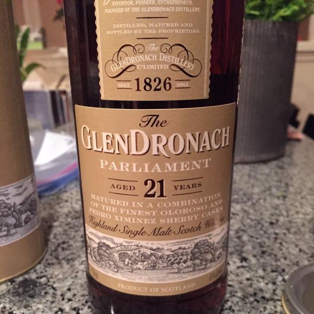 Aged 21 Years Parliament Highland Single Malt Scotch Whisky NV