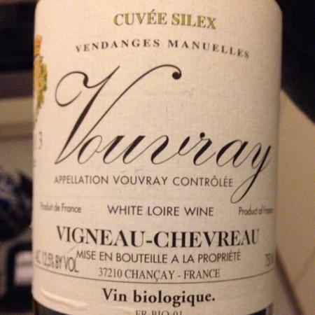 Domaine de Vigneau-Chevreau Cuvée Silex Vouvray Sec Chenin Blanc 2016