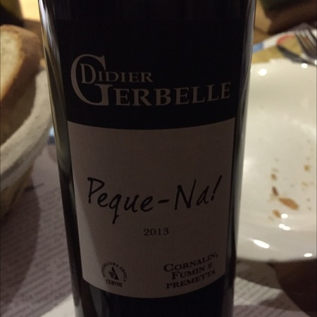 Didier Gerbelle Peque-Na! Vallee d'Aoste Red Blend  2014