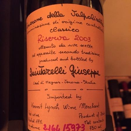 Giuseppe Quintarelli Amarone della Valpolicella Classico Corvina Blend 2003