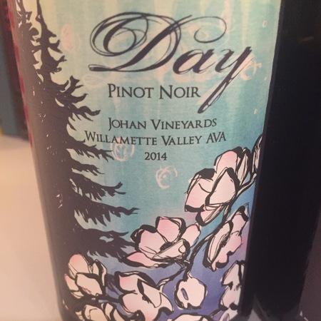 Day Wines Johan Vineyards Pinot Noir  2014