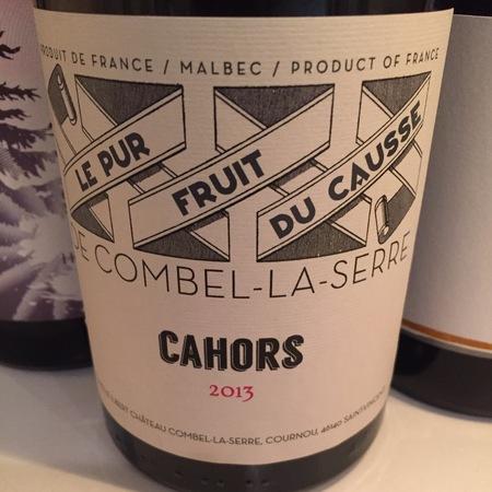 Château Combel la Serre Le Pur Friut du Causse Cahors Malbec 2016