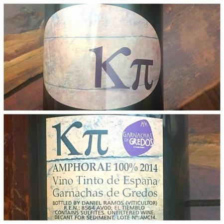 Daniel Ramos K π Amphorae Garnachas de Gredos  2015