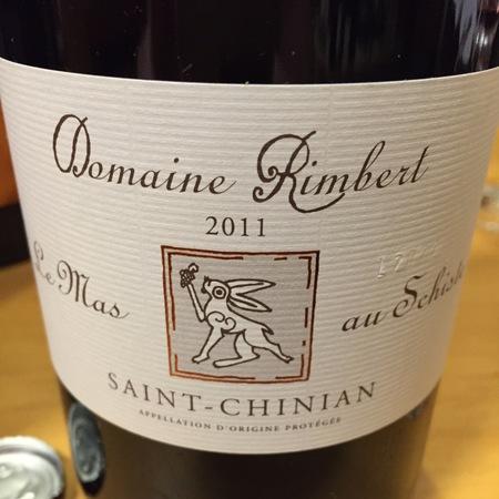 Domaine Rimbert Le Mas au Schiste Saint-Chinian Carignan Blend  2014