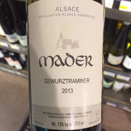 Mader Alsace Gewurztraminer  2016