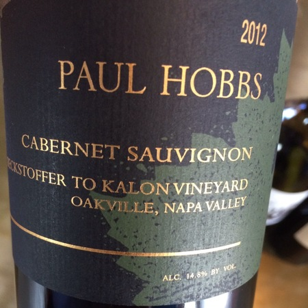 Paul Hobbs Beckstoffer To Kalon Vineyard Cabernet Sauvignon 2012