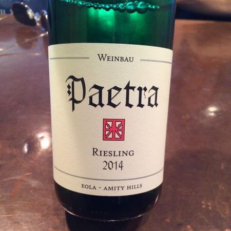 Paetra Eola-Amity Hills Riesling 2014