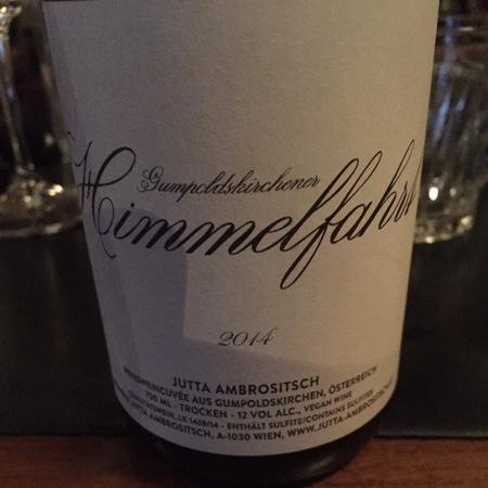 Jutta Ambrositsch Gumpoldskirchener Himmelfahrt White Blend 2015