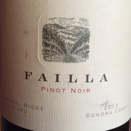 Failla Occidental Ridge Vineyard Pinot Noir 2013