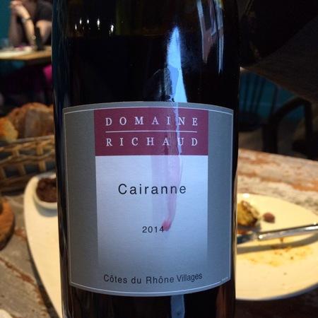Domaine Richaud Côtes du Rhône Villages Cairanne Red Rhone Blend 2014