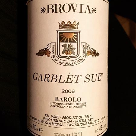 Azienda Agricola Brovia Garblèt Sue' Barolo Nebbiolo 2013