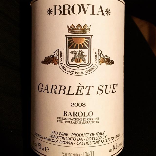 Garblèt Sue' Barolo Nebbiolo 2011