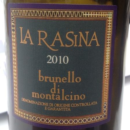 La Rasina Brunello di Montalcino Sangiovese 2010