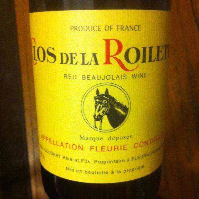 Clos de la Roilette Fleurie Gamay 2014