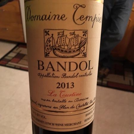 Domaine Tempier Cuvée La Tourtine Bandol Mourvedre Blend 2013