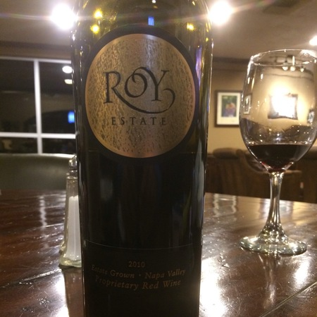 Roy Estate Napa Valley Proprietary Cabernet Sauvignon Blend 2010