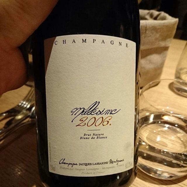 Millésime Brut Nature Blanc de Blancs Champagne Chardonnay 2006
