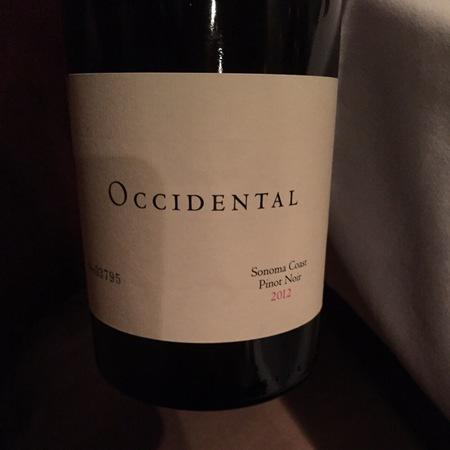Occidental (Stephen Kistler) Sonoma Coast Pinot Noir 2012