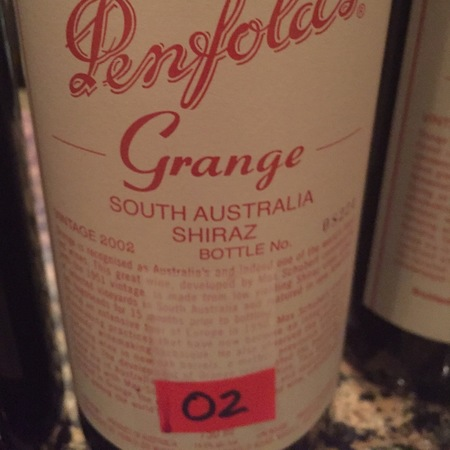 Penfolds Grange South Australia Shiraz 2012