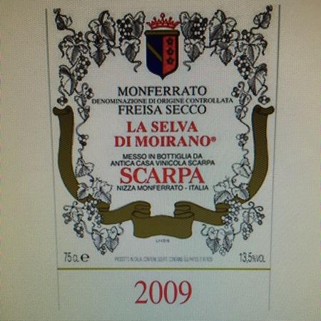 Scarpa (Antica Casa Vinicola Scarpa) La Selva di Moirano Monferrato Freisa 2009