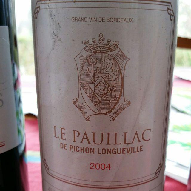 Le Pauillac de Pichon Longueville Red Bordeaux Blend 1966