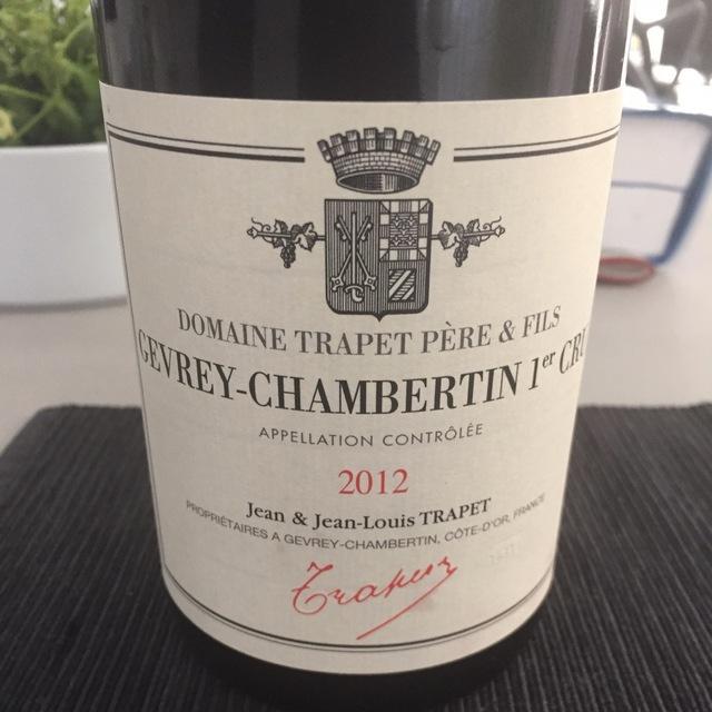 Gevrey-Chambertin Pinot Noir 2012