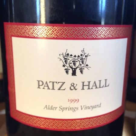 Patz & Hall Alder Springs Vineyard Pinot Noir 1999