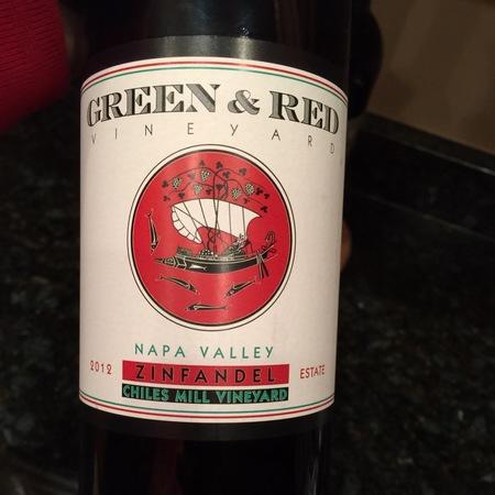 Green & Red Vineyards Chiles Mill Vineyard Zinfandel 2014
