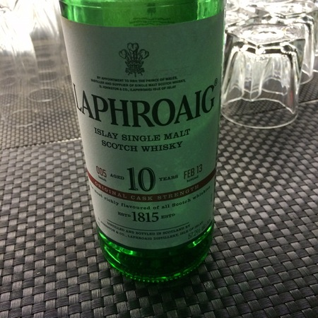 Laphroaig 10 Year Original Cask Strength Islay Single Malt Scotch Whisky NV
