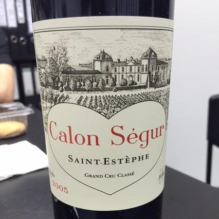 Château Calon-Ségur Saint-Estèphe Red Bordeaux Blend 2005