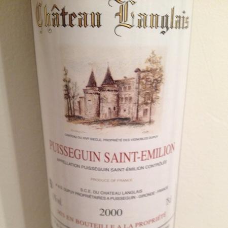 Château Langlais  Puisseguin-St. Émilion Red Bordeaux Blend 2000