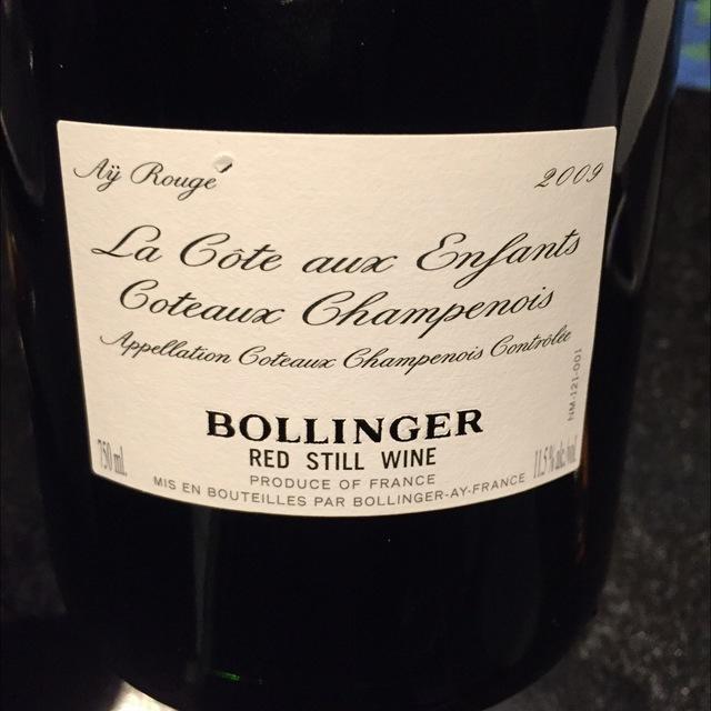 La Côte aux Enfants Coteaux Champenois Pinot Noir 2009