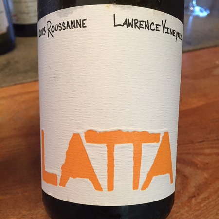 Latta Lawrence Vineyard Roussanne 2013