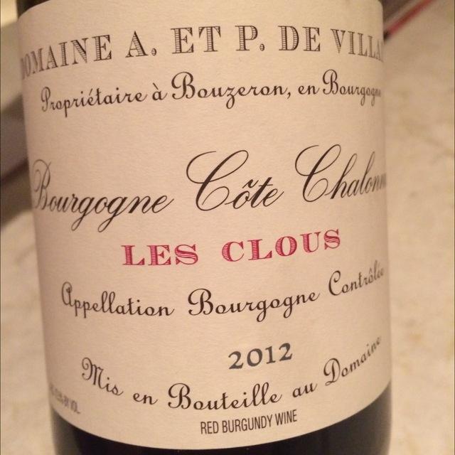 Les Clous Côte Chalonnaise Pinot Noir 2014