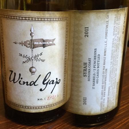 Wind Gap Wines Sonoma Coast Syrah 2014