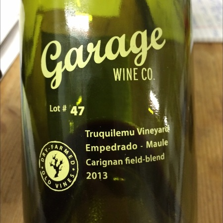 Garage Wine Co. Lot #47 Truquilemu Vineyard Carignan Field Blend 2013