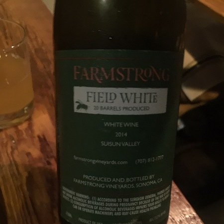 Farmstrong Vineyards Field White Blend 2014