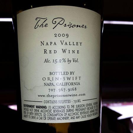 The Prisoner Wine Company The Prisoner Napa Valley Zinfandel Blend 2009