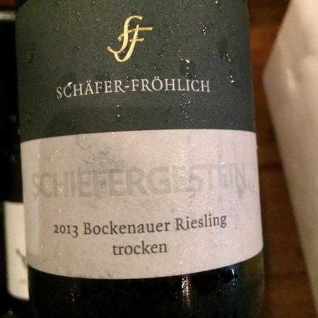 Schäfer-Fröhlich Schiefergestein Bockenauer Trocken Riesling 2013