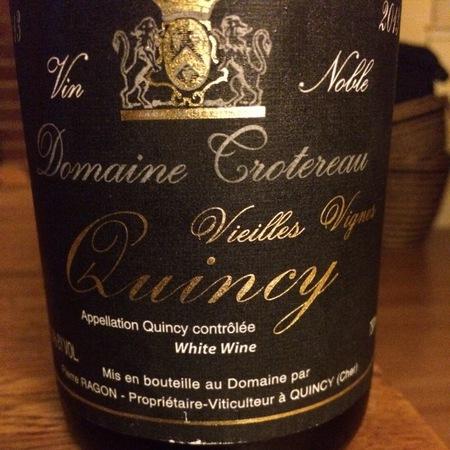 Domaine Trotereau Vieilles Vignes Quincy Sauvignon Blanc 2013