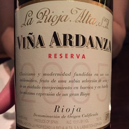 La Rioja Alta Viña Ardanza Reserva Rioja Tempranillo Blend 2008