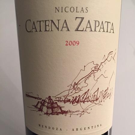 Bodega Catena Zapata Nicolas Catena Zapata Mendoza Cabernet Sauvignon Malbec 2009
