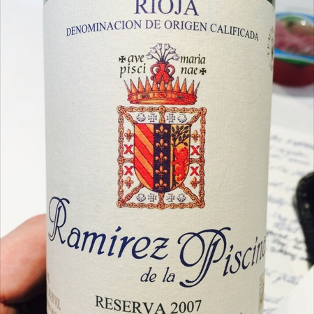 Bodegas Ramirez Ramirez de la Piscina Reserva Rioja Tempranillo 2011