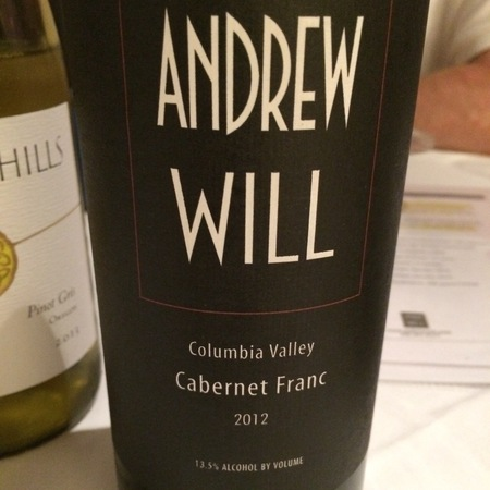 Andrew Will Columbia Valley Cabernet Franc 2012