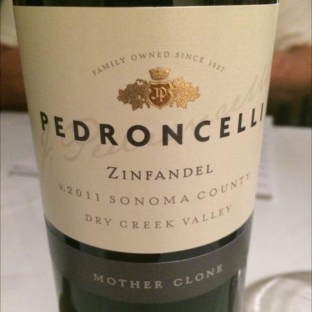 Pedroncelli Mother Clone Dry Creek Valley Zinfandel 2014
