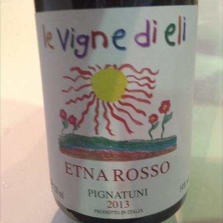 Azienda Agricola le Vigne di Eli Pignatuni Etna Rosso Red Blend 2011
