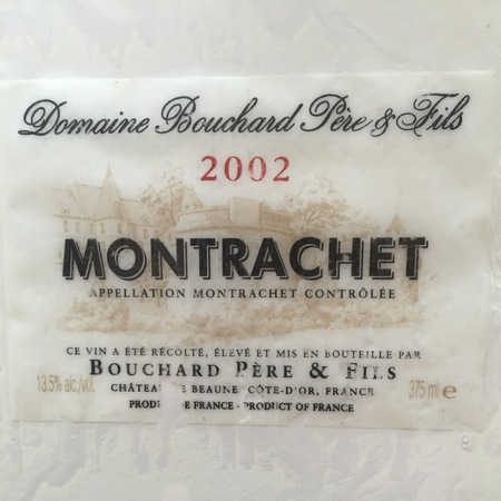 Bouchard Père et Fils Montrachet Chardonnay 2002